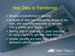 how data is transferred