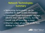 network technologies summary