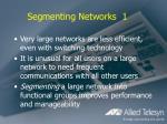 segmenting networks 1