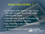 virtual lans vlans 1