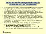 vereinnehmende managementkonzepte konsequenzen und perspektiven1