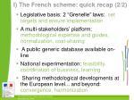i the french scheme quick recap 2 2