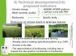 ii technical developments 3 3 proposed indicators