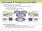 converged ip telephony in the wan