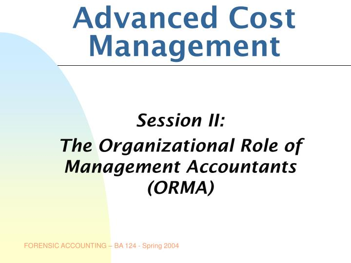 advanced cost management n.