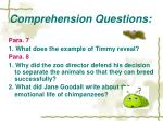 comprehension questions11