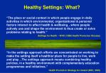 healthy settings what