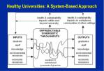 healthy universities a system based approach