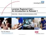 lorenzo regional care an introduction to release 1