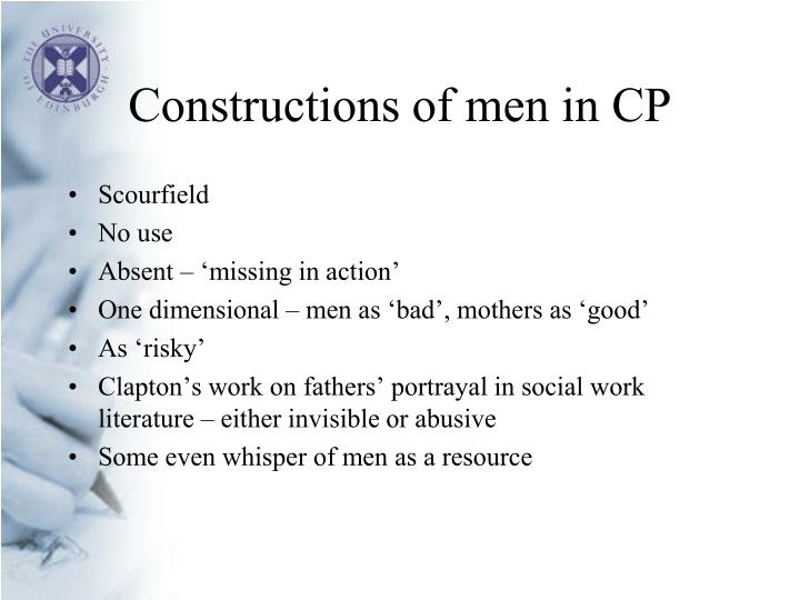 Constructions of men in CP