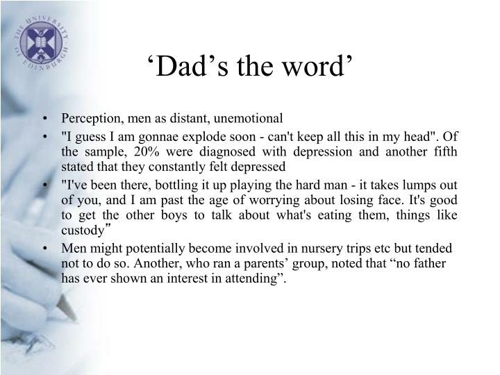 Dad s the word