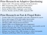prior research on adaptive questioning