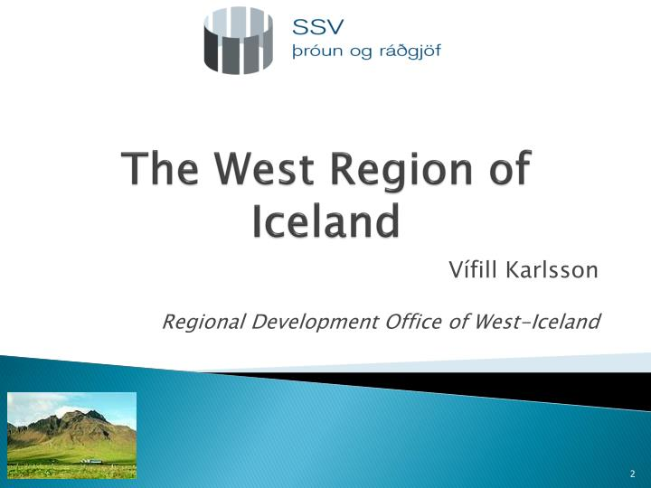 the west region of iceland n.