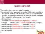 taxon concept