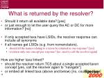 what is returned by the resolver
