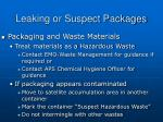 leaking or suspect packages2
