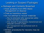 leaking or suspect packages3