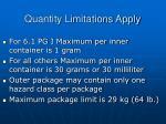 quantity limitations apply