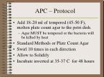 apc protocol