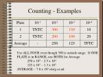 counting examples