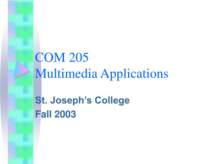 com 205 multimedia applications n.