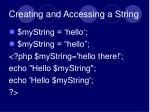 creating and accessing a string