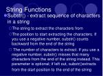 string functions1