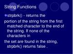 string functions4