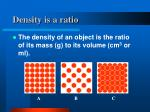 density is a ratio