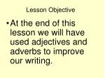 lesson objective1