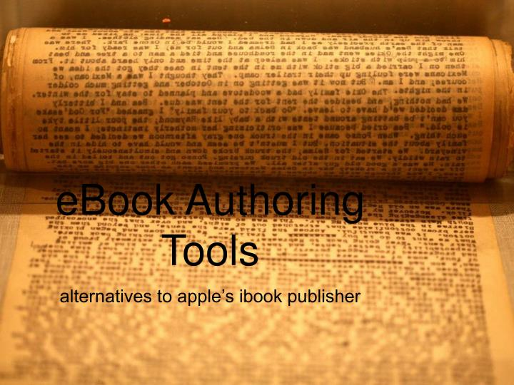 ebook authoring tools n.
