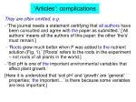 articles complications