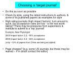 choosing a target journal