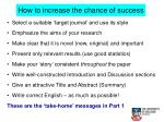 how to increase the chance of success1