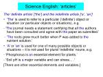science english articles