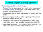 science english avoiding repetition