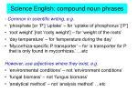 science english compound noun phrases