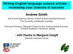 writing english language science articles increasing your chances of success