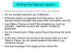 writing the results section