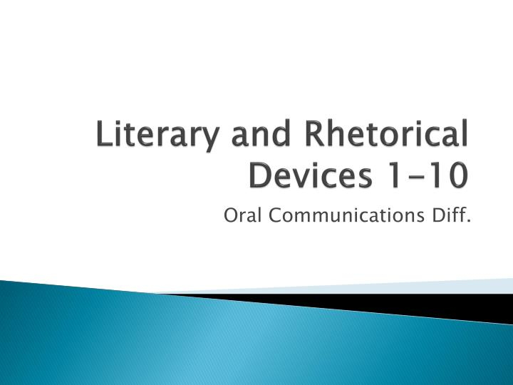 literary and rhetorical devices 1 10 n.