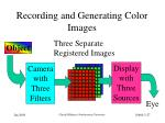 recording and generating color images