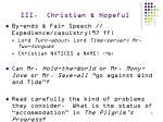 iii christian hopeful