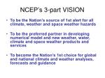 ncep s 3 part vision