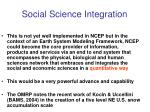 social science integration