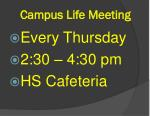 campus life meeting