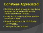 donations appreciated