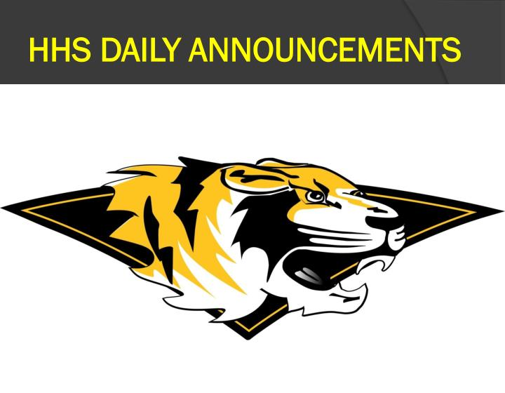 hhs daily announcements n.