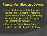 register your electronic devices