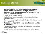 challenges of orms1