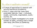 so what is qualitative research